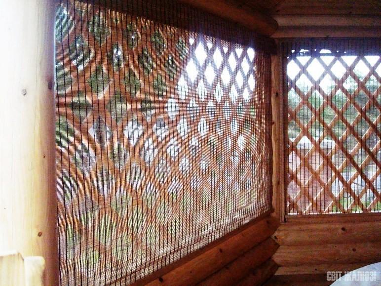 Бамбуковые шторы. Беседка.