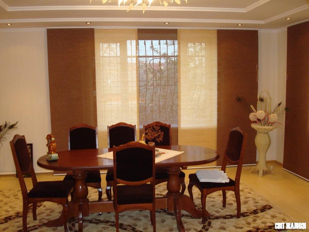 Панельные шторы, натуральный материал Шикатан.