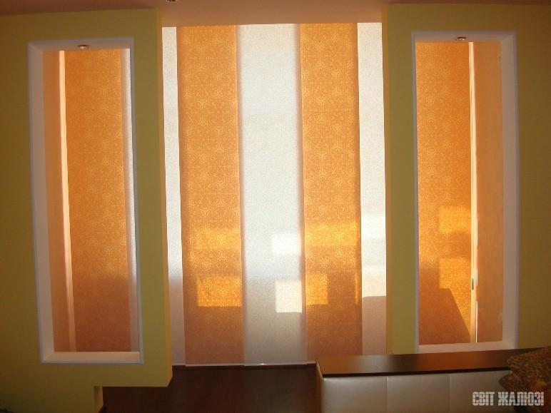 Панельные шторы. Балкон.