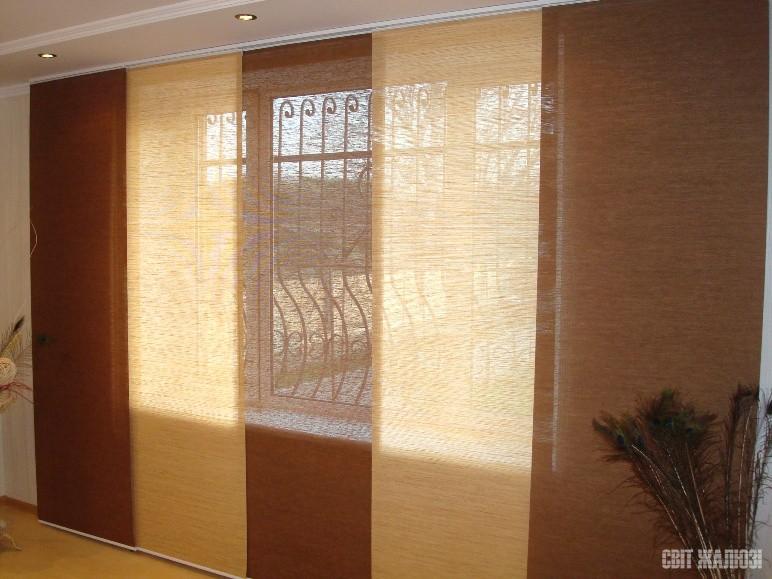 Панельные шторы. Натуральные материалы.